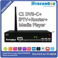 Singapore IKS Account Network Sharing IPTV Digital Cable Receiver USB DVD-C TV Box