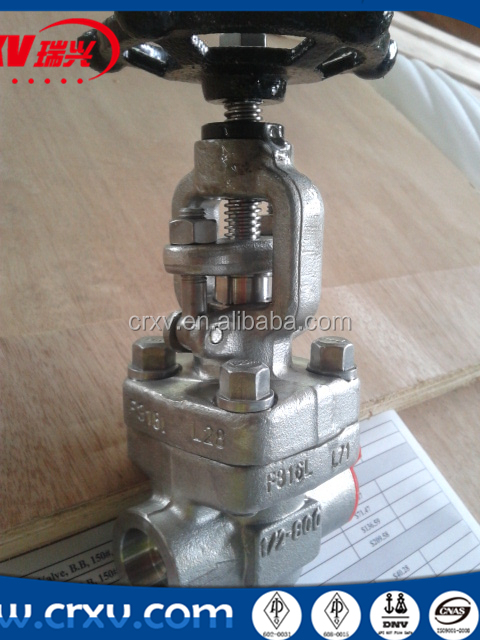 ANSI Forged Steel Globe Valve Stainless Steel 316 Drawing SW