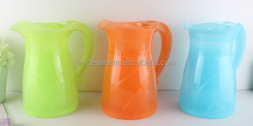 BPA Free 2.2L Plastic Juice Pitcher with 4 Cup Set