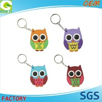OEM 2D Or 3D Custom Logo Rubber Keyring or Promotion PVC Animal Keychain