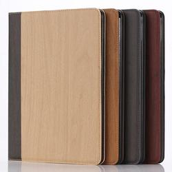 wood pattern leather case for ipad air,for iPad air 2 wallet leather case