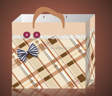 Full color plaid paper photo album packaging bag in Guangzhou