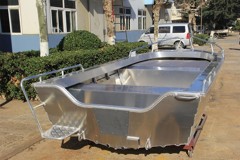 high quality low price hot sales press boat 4.2m 14ft aluminium open yacht