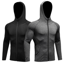 Wholesale water proof sports hoodies jackets spandex gym wear for men