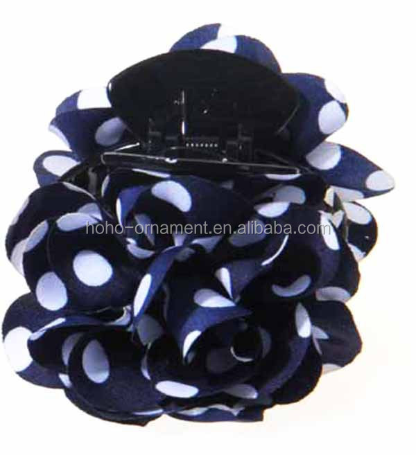 High quality hair accessory handmade 3D flower hairclip