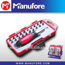 22-pcs ratcheting screwdriver set