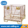 Steel metal collapsible PET preform wire mesh cage