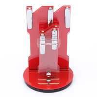 New Arrival Hot Sale Useful Red Acrylic Kitchen Ceramic Knife Holder Kitchen Knife Stand Block For 3 4 5 6 Knives And Peeler