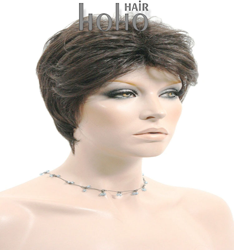 Top quality hot sale beauty 6 inch white short synthetic wig