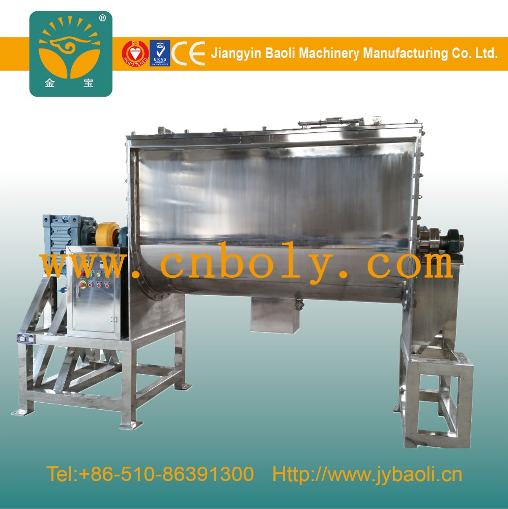 China Professional Manufacturer Double Blade Paddle Horizontal Type Ribbon Mixer