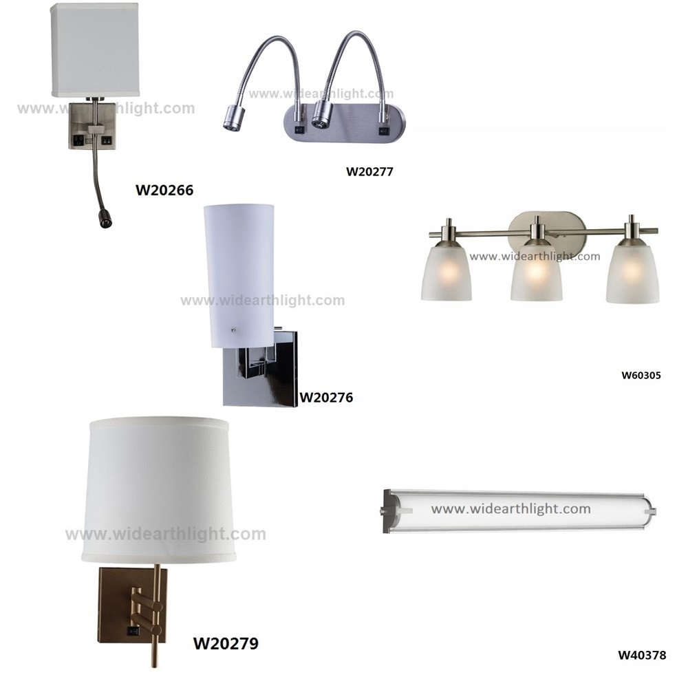 UL CUL Listed China Supplier Best Price Fabaric Or Glass Shade Wall Lamp For Hotel Or Bedroom USA WH30133