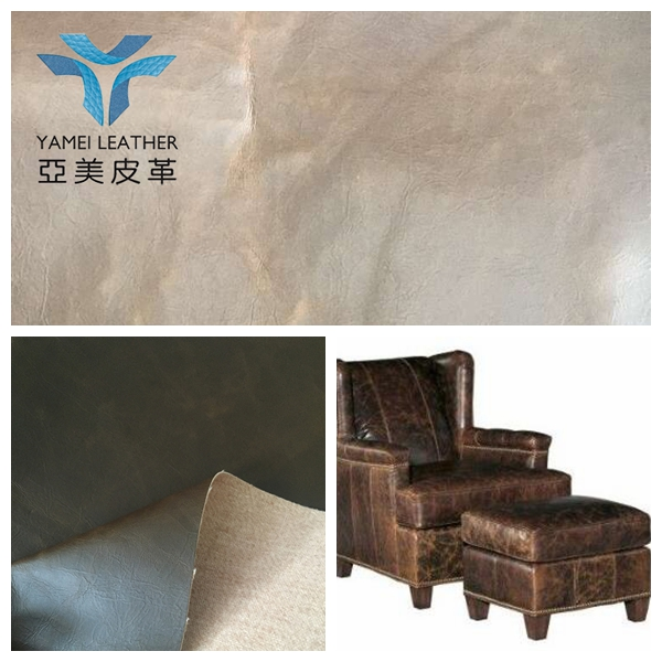 crazy horse leather for distressed leather armchair and sofa