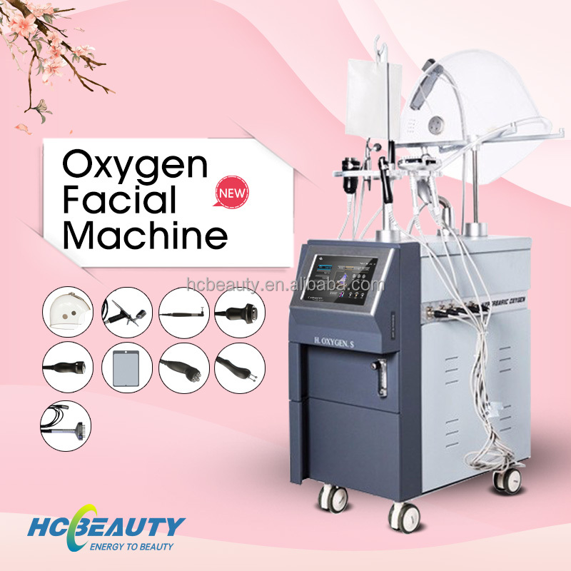 Pure oxygen eyes and facical lifting vertical oxygen jet machine