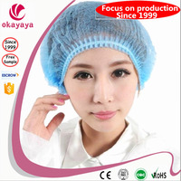 Top sell disposable double elastic nonmoven mob hair caps