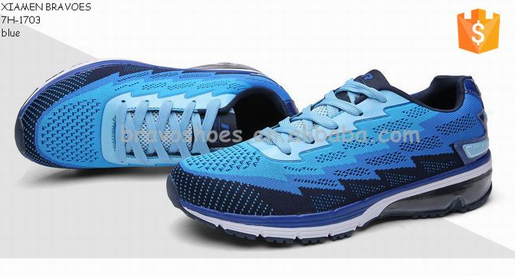 wholesale high quality bright color flyknit fabric air running shoes