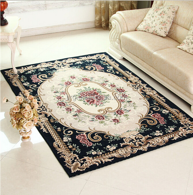 machine made acrylic jacquard carpets from Tianjin China