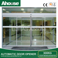 Ahouse DC 24V Brushelesss Motor Automatic Sliding Glass Door with Infrared Sensor /sliding Glass door opener