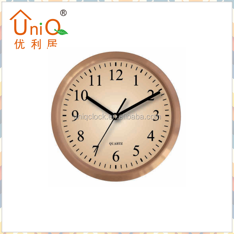 10 inch round stylish water resistant large digital aluminium wall clock