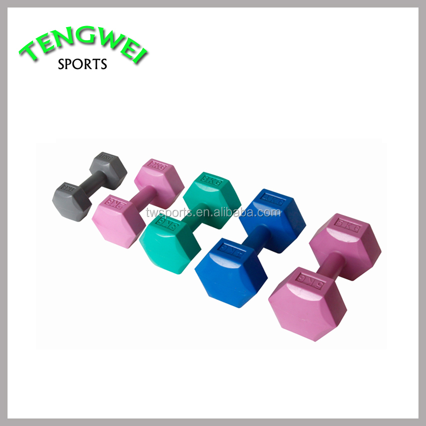 Plastic Coated Wholesale Branded Cement Dumbbell with Hex Head