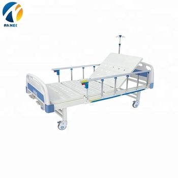 AC-MB081 2cranks manual metal hospital medical  equipment adjustable height hospital  bed