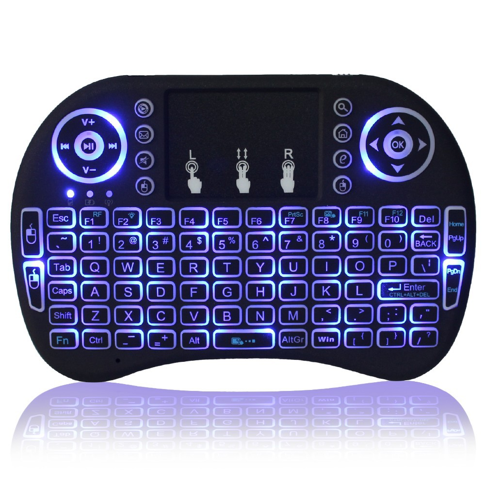 Mini i8+ 2.4g Wireless Mini Backlit Keyboard with Touchpad