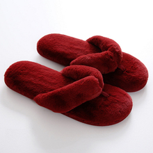 New Arrivals Fur Slippers for Women Indoor Shoes Furry Ladies Slippers Warm Winter Flat Heel Shoes