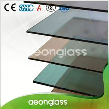 High quality flat clear 12mm sliding window tinted glass price