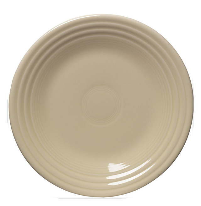 Fiesta 9-Inch Glaze Ivory Ceramic Luncheon Dinner Plate for Sale