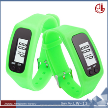 Fashion Lovers Sport LCD Display Record Distanve Silicone Bracelet Pedometer Watch For Kids Men Women Online Shopping