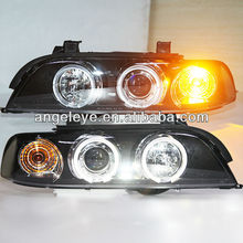 For BMW E39 LED Angel Eyes Headlight 1996 to 2003 year SN
