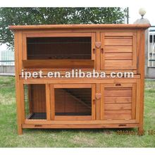 Big 4FT 2 Storey Outdoor Wooden Rabbit Cage with Plastic Trays