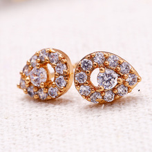 26347 Light weight quality fashion hot sale earring fake micro pave crystal CZ stud earrings