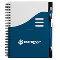 Supply logo printed promotional cheap plastic cover spiral notebook