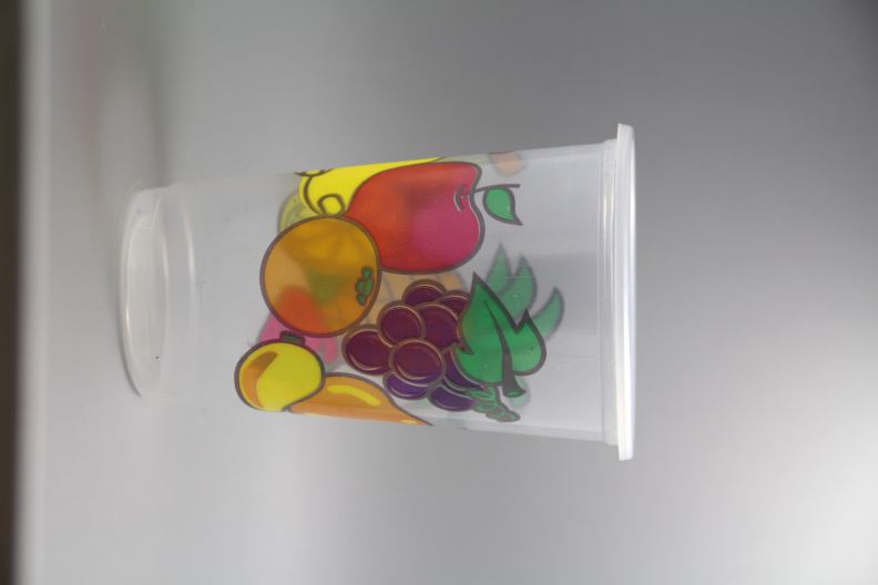 Cheap printed plastic cup for cupcakes