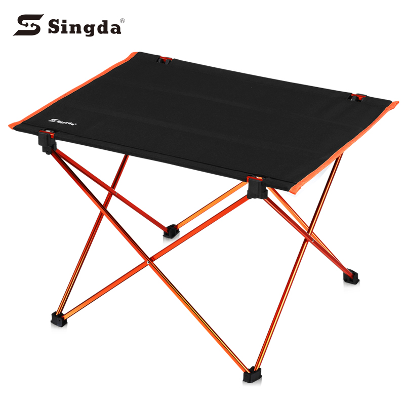 Outdoor camping fold up table metal camping table