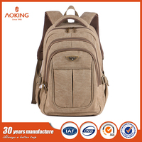 Latest new style ergonomic canvas school bag for boys girls on sale guangzhou/.
