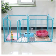 New products iron fence dog kennels indoor double metal dog kennels MHD006-B