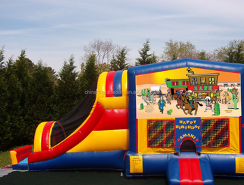 kids jumping inflatable combo bouncer with slide