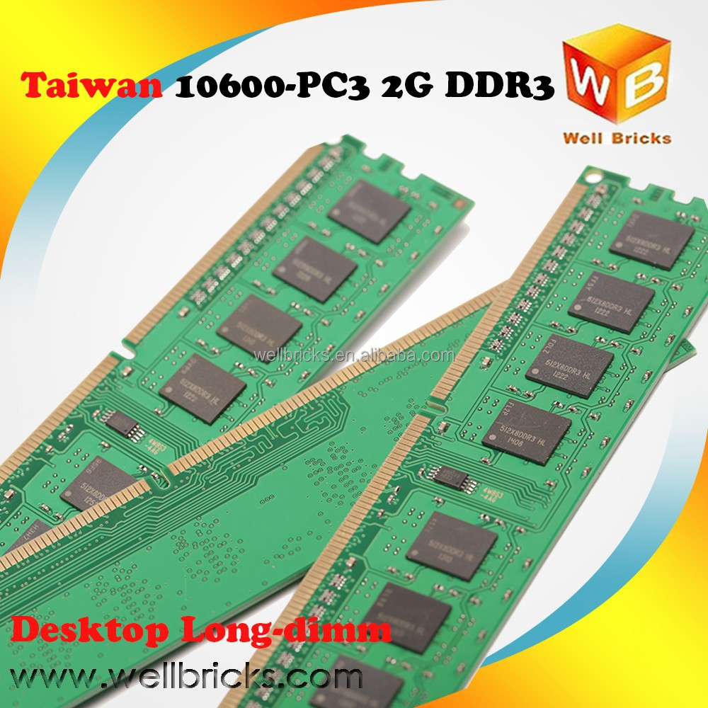 Best selling in Alibaba 1333Mhz 2gb ram ddr3 memory module Taiwan made