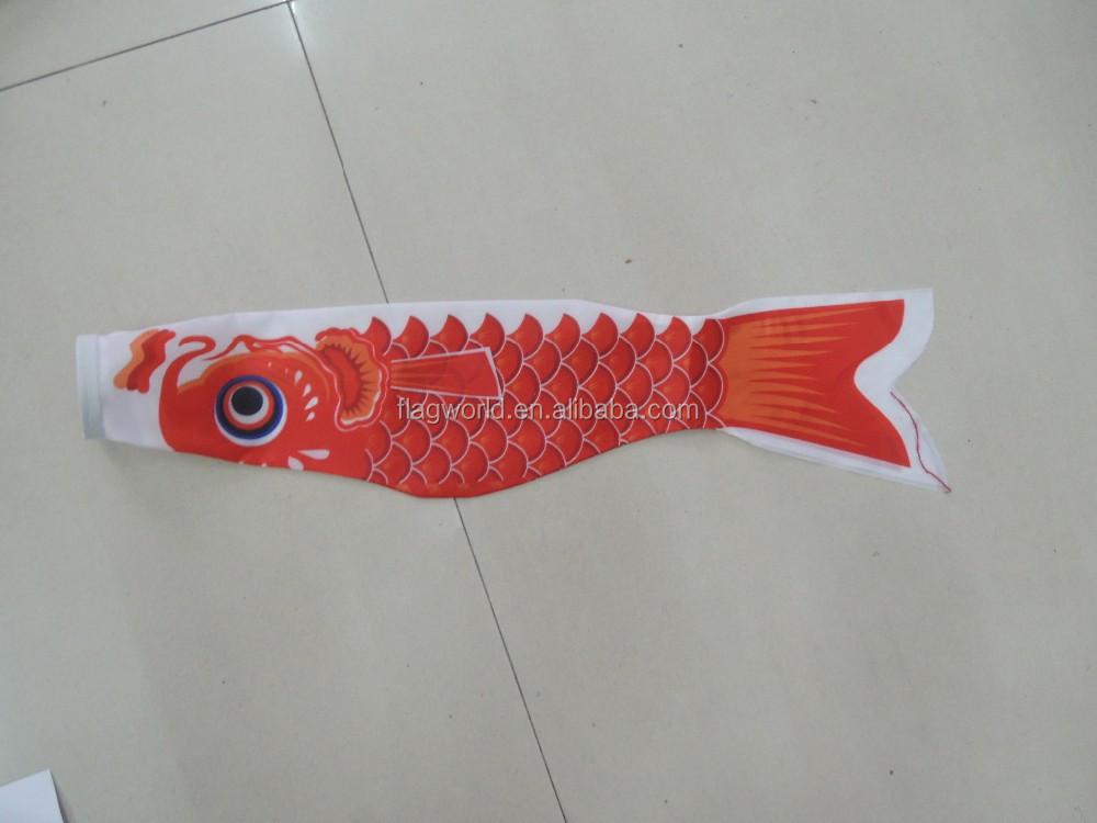 100cm japanese windsock carp flag koi nobori sailfish fish for Japanese koi windsock