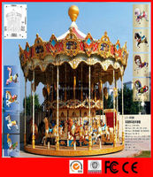 Outdoor games amusement rides carousel for sale