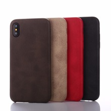 For iPhone X 8 Case Leather Slim Texture Retro, Crazy Horse Pattern Back Cover Case For iPhone X 8 Case