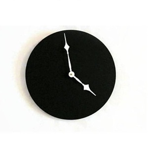 Customized logo wall clock glass import from china