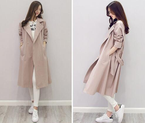 Factory Price Double-Breasted Long Sleeve Woman Winter Clothing Plus Size Ladies Tailored Fancy Casual Trench Coat With Belt