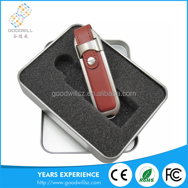 Hot Sale Leather Case Usb Flash Drive With High Speed