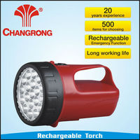 High power emergency portable LED torch with power bank & rechargeable battery