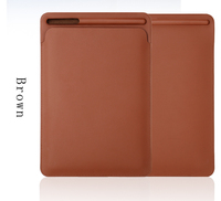 Elegant Ultra Slim PU Leather sleeve case for ipad air/2017/pro 10.5 with Apple Pencil Stylus Slot Holder