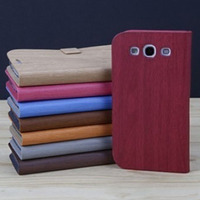 mobile phone leather flip cover for samsung galaxy siii s3 cove case smart