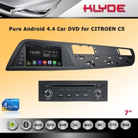 7inch capacitive screen android car dvd player for CITROEN C5 with quad core CPU usb gps bt 1080p v