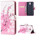 For HTC 620 Case Pink Plum Magnetic PU Leather Wallet Stand Case Cover